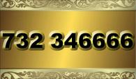 zlaté  číslo - 732 346666 T-mobile