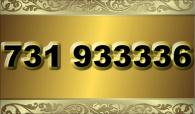 zlaté  číslo - 731 933336  T-mobile
