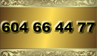 zlaté  číslo - 604 66 44 77  T-mobile
