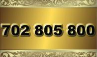zlaté  číslo - 702 805 800