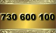 zlaté  číslo - 730 600 100