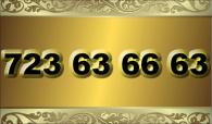 zlaté  číslo - 723 63 66 63 - O2