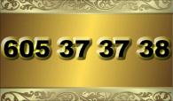 zlaté  číslo - 605 37 37 38 - T-mobile