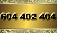 zlaté  číslo - 604 402 404  T-mobile
