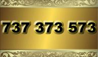 zlaté  číslo - 737 373 573 T-mobile