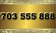 zlaté  číslo - 703 555 888