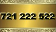 zlaté  číslo - 721 222 522 - O2