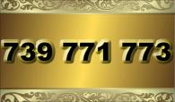 zlaté číslo - 739 771 773  T-mobile