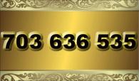 zlaté  číslo - 703 636 535  T-mobile