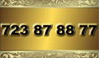 zlaté  číslo - 723 87 88 77 - O2