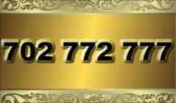 zlaté  číslo - 702 772 777