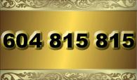 zlaté  číslo - 604 815 815 T-mobile