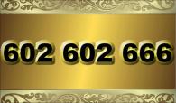 zlaté  číslo O2 - 602 602 666