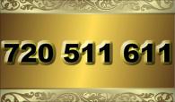 zlaté  číslo - 720 511 611 - O2