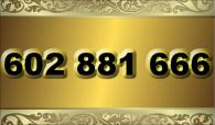 zlaté  číslo - 602 881 666 - O2