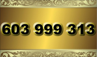 zlaté  číslo - 603 999 313  T-mobile