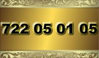 zlaté  číslo - 722 05 01 05
