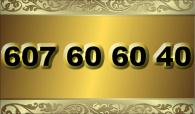 zlaté  číslo - 607 60 60 40 - O2