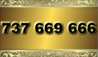 zlaté  číslo - 737 669 666