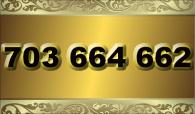 zlaté  číslo - 703 664 662  T-mobile