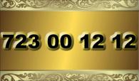 zlaté  číslo - 723 00 12 12  - O2