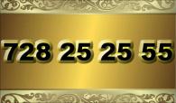 zlaté  číslo - 728 25 25 55  -  O2