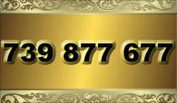 zlaté číslo - 739 877 677  T-mobile