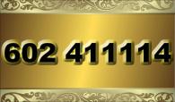 zlaté  číslo - 602 411114 - O2