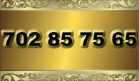 zlaté  číslo - 702 85 75 65