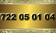 zlaté  číslo - 722 05 01 04