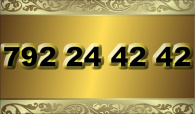 zlaté  číslo - 792 24 42 42