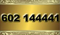zlaté  číslo - 602 144441 - O2
