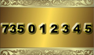 zlaté  číslo  - 735 0 1 2 3 4 5