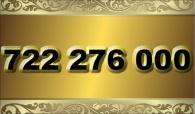 zlaté  číslo - 722 276 000  -  O2