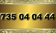 zlaté číslo 735 04 04 44