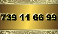 zlaté číslo - 739 11 66 99  T-mobile