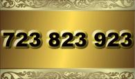 zlaté  číslo - 723 823 923  - O2