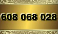 zlaté  číslo - 608 068 028 -  Vodafone