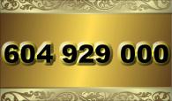 zlaté číslo - 604 929 000  T-mobile