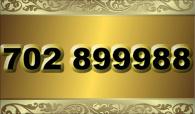 zlaté  číslo - 702 899988