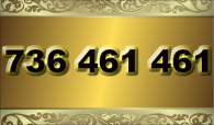 zlaté  číslo - 736 461 461 T-mobile