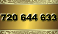 zlaté  číslo - 720 644 633 - O2