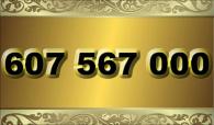 zlaté  číslo - 607 567 000 - O2