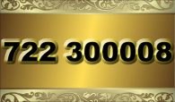 zlaté  číslo - 722 300 008   -  O2