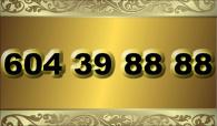 zlaté  číslo - 604 31 88 88  T-mobile