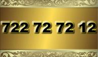zlaté  číslo - 722 72 72 12  -  O2