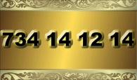 zlaté číslo - 734 14 12 14  T-mobile