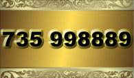 zlaté číslo  735 998889
