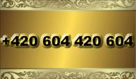 zlaté  číslo + 420 604 420 604  T-mobile