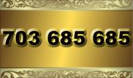 zlaté  číslo - 703 685 685  T-mobile